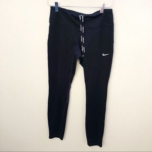 Nike Dri-Fit Black Running Pants Sz M